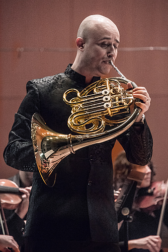 Collaborated regularly as guest Principal horn with the London Symphony Orchestra