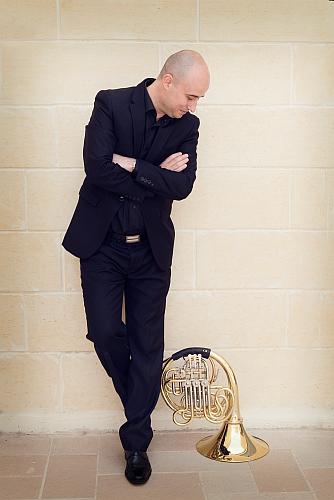 Spanish horn player José García Gutiérrez from Alicante