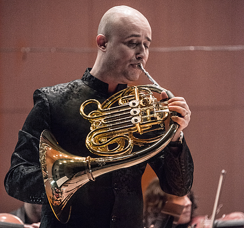 Spanish horn player Jose Garcia Gutierrez
